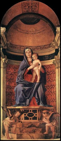 Frari Triptych (detail) by BELLINI, Giovanni #art
