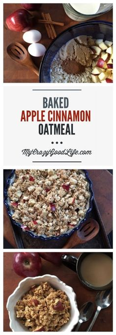 I have to admit, this recipe for baked apple cinnamon oatmeal is my favorite thing to make on a cold morning!