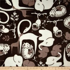 Online Shopping for Home Decor, Apparel, Quilting & Designer Fabric Animals Black And White, Grey And White, Baby Fabric, Fleece Fabric, Tie Blankets, Zoo Animals, Amazon Art, Fabric Design, Sewing Crafts