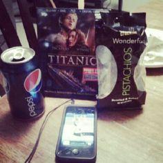 christianguy001: Enjoying My Evening :) #pepsi #soda #titanic #movie #bluray #dvd #digitalcopy #wonderful #pistachios… instagr.am/p/V8ZTY3kPH3/