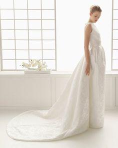 27 - vestido de noiva dorotea de rosa clara 2016 em brocado com silhueta japonica