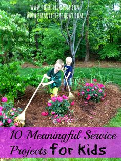 Ten service projects for kids (although I think they sound super fun for us big girls. I'm gonna suggest my women's Bible study group do one of these. Service Projects For Kids, Community Service Projects, Service Ideas, American Heritage Girls, Mission Projects, Daisy, Service Learning, Learning Resources, Kids Church
