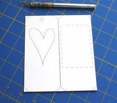 Закладка для книг своими руками - сердечко, шаблон