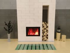 Come warm yourself by the LEGO fire