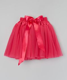 This Hot Pink Bow Morgan Skirt - Toddler & Girls by Girly Things is perfect! #zulilyfinds