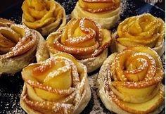 Almarózsa 2. Fall Recipes, Great Recipes, Pear Dessert, Apple Roses, Apple Pear, Onion Rings, Tapas, Bakery, Cheesecake