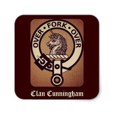 Clan Cunningham Crest in Sepia