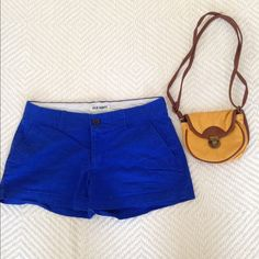 Summer shorts Royal blue, lightly used and would look preppy/nautical with a simple white tee! Old Navy Shorts