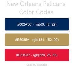 new orleans pelicans team color codes