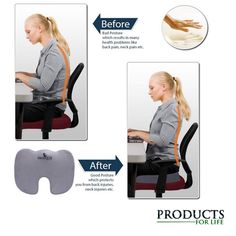 Keep your butt comfortable with the Coccyx (tailbone) orthopedic and ergonomic…