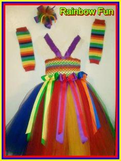 Rainbow Fun Tutu Dress and Accessories