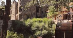 The famous water wheel at the Dunafon Castle. Filmed for a wedding video in the mountains west of Denver, Colorado.