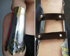 Wonder woman Dawn of Justice inspired stainless steel and brass bracers / cuff set Wonder Woman Cosplay, Dawn Of Justice, Cosplay Tutorial, Wonder Women, Gal Gadot, Costumes For Women, Woman Costumes, Cosplay Costumes, Dc Cosplay