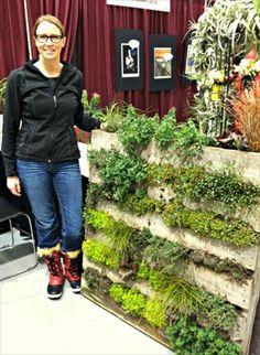 repurposed pallet vertical garden