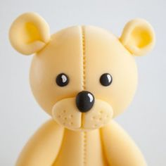How to make a teddy bear cake topper part 1