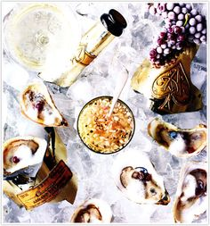 {Pure ambrosia...Oysters and Champagne)