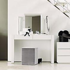 Carlton Glass Dressing Table - White Furniture | The White Company