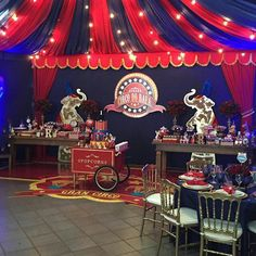 Fiesta circo Circus Carnival Party, Circus Theme Party, Circus Wedding, Carnival Themes, Wild One Birthday Party, Summer Birthday, First Birthday Parties, Kids Birthday Themes, Carnival Birthday