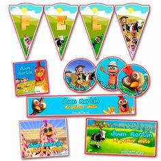 kit candy bar canciones de la granja impreso stickers y mas Sarah Kay, Ideas Para Fiestas, Birthday Parties, Birthdays, Pastel, Baby Shower, Cartoon, Happy, Kit