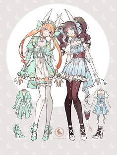 Adoptables - Bunny Maidens - Closed by Leirix.deviantart.com on @DeviantArt