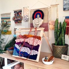 CUSTOM weaving for Stacey Herron, Vintage woven wall hanging by Maryanne Moodie