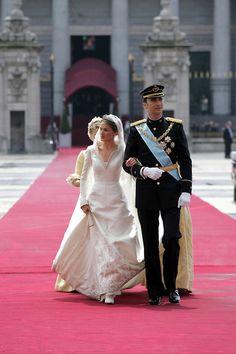 Prince Felipe married Princess Letizia on May 22, 2004 in the Cathedral Santa María la Real de la Almudena in Madrid.