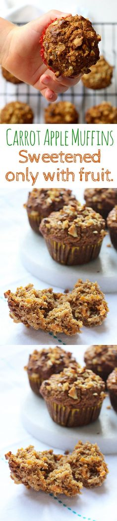 Carrot Apple Muffins (No added sugar