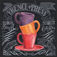 Chalkboard coffee , Posters and Prints at Art.com