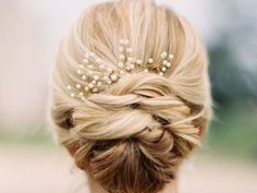 Add braids for a more elaborate version of the updo, and throw in an elegant hair accessory to complete the look.