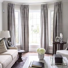 Bay Window Curtains For Living Room components can add a touch of favor and design to any dwelling. Bay Window Curtains For Living Room can imply many things to… Large Window Curtains, Bay Window Curtain Rod, Curtain Rails, Drapery Panels, Blinds For Bay Windows, Large Window Coverings, Sliding Door Curtains, Bed Drapes, Curtain Hanging