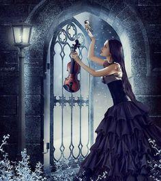 violin in the night