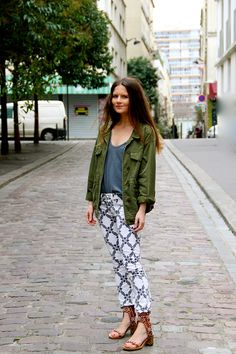 The printed pant that goes with a variety of colors can boost a wardrobes possiblities