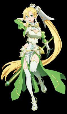 Kawaii Anime Girl, Anime Art Girl, Manga Art, Leafa Sao, All Anime Characters, Sword Art Online Wallpaper, Sword Art Online Asuna, Accel World, Female Knight