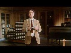 Carl Sagan describing books.