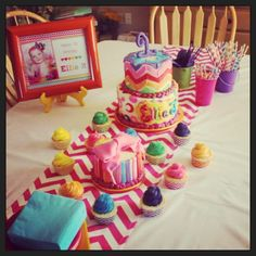 Rainbow chevron party ideas