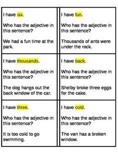 Adjective Game