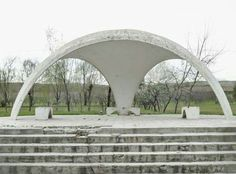Herwig spent 12 years looking for bus stops like this in Tursunzoda, Tajikistan. He said there would be some places with a bus stop every but others weren't even connected by road Urban Furniture, Street Furniture, Furniture Design, Bus Shelters, Building Facade, Bus Station, Bus Stop, Out Of This World, Landscaping