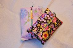 Floral Matching Tissue Totes by MistyMeadowTreasures on Etsy