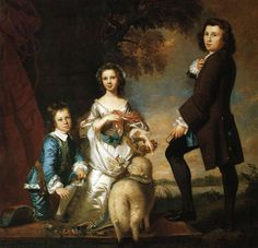 Reynolds, Joshua (1723-1792) - 1748 Thomas and Martha Neate with Tutor (Metropolitan Museum of Art, New York City)