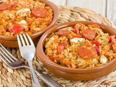 Jambalaya au Thermomix - as la - Photo Cooking Roast Beef, Cooking Wild Rice, How To Cook Rice, Spanish Food, Vintage Recipes, Macaroni And Cheese, Meal Prep, Curry, Food And Drink