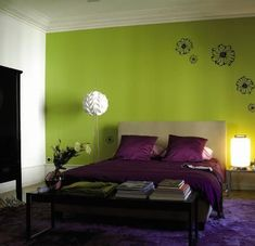Purple Green Bedroom Loving On These Colors