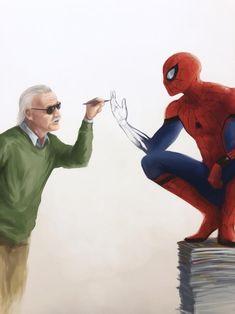 High quality print of my original artwork dedicated to Stan Lee! Avengers Cartoon, Marvel Avengers, Marvel Comics, Avengers Fan Art, Marvel Drawings, Cartoon Drawings, Cartoon Art, Marvel Universe, Frank Miller Comics