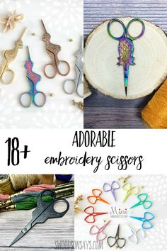 Gift the perfect sewing accessory with one of these unique pairs of scissors! Adorable embroidery scissors that are perfect for hand sewing, cross stitching, and embroidery.
