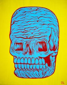 """gore skull 2"" Matt Geer horror painting"