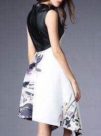 Asymmetric Paneled Cotton-blend Midi Dress. LOVE this print!