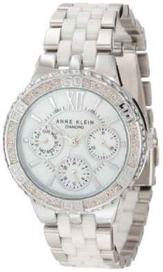 Anne Klein Women`s 10/9731MPWT Diamond Accented Silver-Tone Multi-Function Watch ♥