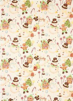candy snowman #Christmas fabric Alexander Henry: