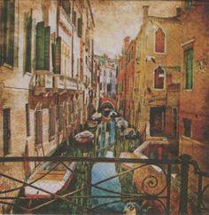 Pays : Serviette papier Venise et canaux  33 cm X 33 cm 3 plis   http://fournitures-loisirs.les-creatifs.com/serviettes.php?refer=Venise-et-canaux  pour la décoration de table.