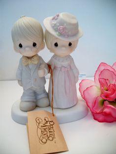 vintage Precious Moments elderly couple figurine