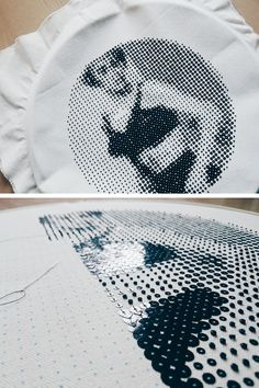 @paillette.o0 網点刺繍 / Halftone Embroidery
